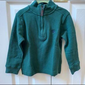 Boys 3/4 zip sweatshirt